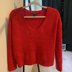 Red Soft Express Sweater XS